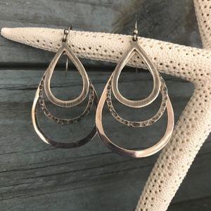 Silpada Triple Teardrop Sterling Silver Earrings